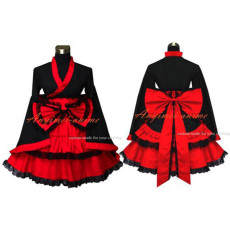 Gothic Lolita Punk Japan Kimono Dress Cosplay Costume Custom-Made[G545]