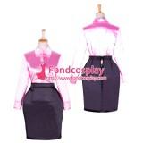 Fetish Satin Blouse-Skirt Costume Uniform Cosplay Tailor-Made[G1762]