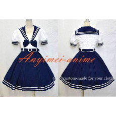 Navy Uniform Dress Lolita School Girl Cotton Dress Cosplay Costume Tailor-Made[CK1311]