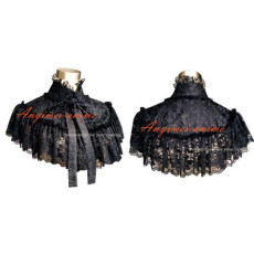 Gothic Lolita Punk Black Lace Cape Cosplay Costume Tailor-Made[G305]