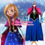 Princess Dress Anna Dress Movie Cosplay Costume Custom Made[G1224]