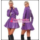 Purple Pvc Dress Gothic Lolita Punk Vinyl Rain Coat Tailor-Made[G1561]