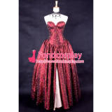 O Dress The Story Of O With Bra Red Taffeta Dress Cosplay Costume Tailor-Made[G185]