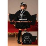Gothic Lolita Punk Sweet Fashion Dress Japan Black Kimono Cosplay Costume Tailor-Made[CK1309]