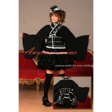 Gothic Lolita Punk Sweet Fashion Dress Japan Black Kimono Cosplay Costume Tailor-Made[CK1309]