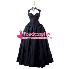 Sexy Gothic Lolita O Dress The Story Of O With Bra Satin Maid Dress Cosplay Costume Custom-Made[G798]