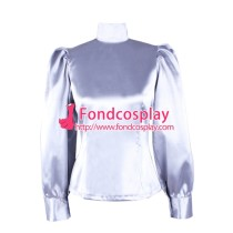 Satin Blouse Shirt Fetish Gothic Tailor-Made[G1597]
