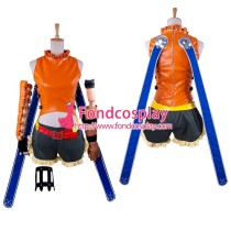 Final Fantasy-Ffx-2 Rikku Outfit Game Cosplay Costume Tailor-Made[G1401]