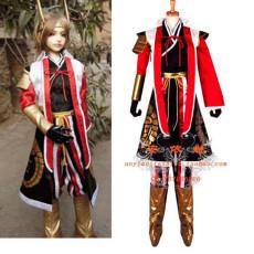 Sengoku Musou 2 Ishida Mitsunari Suit Game Cosplay Costume Custom-Made[G702]