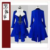 Black Butler Kuroshitsuji Ciel Phantomhive Women'S Blue Dress Cosplay Costume Tailor-Made[CK1353]