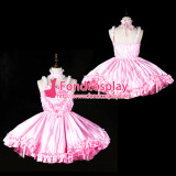 Pink Satin Dress Cosplay Costume Tailor-Made[G2403]