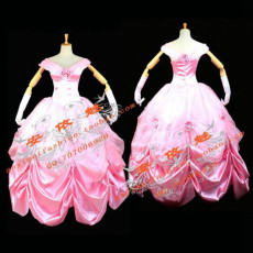 Beautiful Belle Princess Dress Movie Cosplay Costume Custom-Made[G675]