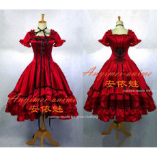 Chobits-Chii Red Satin Dress Cosplay Costume Tailor-Made[G665]