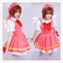 Cardcaptor Sakura Kinomoto Sakura Outfit Dress Cosplay Costume Tailor-Made[G405]