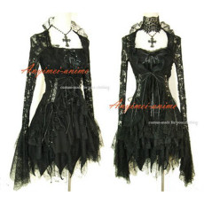 Gothic Lolita Punk Fashion Outfit Dress Cosplay Costume Tailor-Made[CK992]