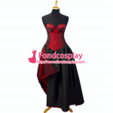 Sexy Gothic Lolita O Dress The Story Of O With Bra Satin Maid Dress Cosplay Costume Custom-Made[G746]