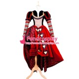 Alice In Wonderland-The Red Queen Dress Tim Burton Moive Cosplay Costume Tailor-Made [G1400]