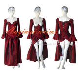 O Dress The Story Of O With Bra Red Tafetta Dress Cosplay Costume Tailor-Made[G231]