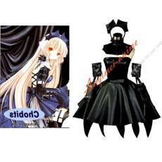 Chobits Freya Dark Chii Faux Leather Pvc Maid Dress Cosplay Costume Custom-Made[G567]