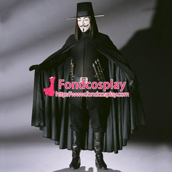 V For Vendetta Ugo Weaving V Cape Clown Cosplay Costume Tailor-Made[CK1446]