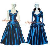 O Dress The Story Of O With Bra Blue Taffeta Dress Cosplay Costume Tailor-Made[G328]