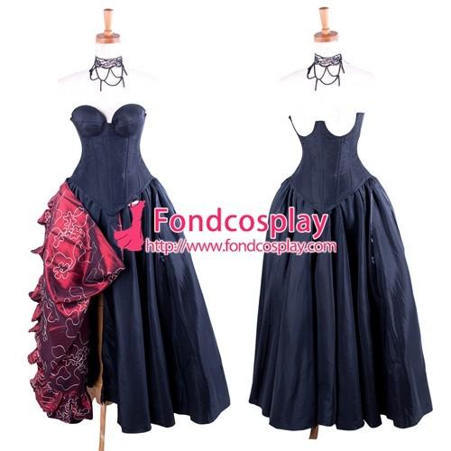 O Dress The Story Of O With Bra Black Taffeta Tailor-Made[G1605]