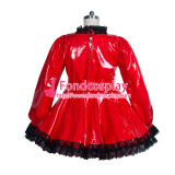 PVC Costume Gothic lolita lockable punk blouse-skirt Tailor-made [G3926]