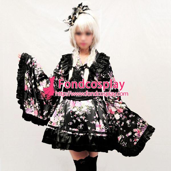 Gothic Japan Kimono Steam Punk Dress Cosplay Costume Tailor-Made[G898]