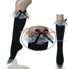 Gothic Lolita Punk Fashion Silk Stocking Cosplay Costume Custom-Made[CK1065]