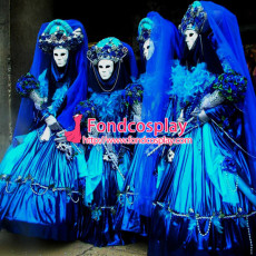 Halloween Carnival Of Venice Traditional Italian Clothing Mask Ball Gown Cosplay Costume Custom-Made[G949]