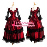 O Dress The Story Of O With Bra Gothic Red Taffeta Dress Cosplay Costume Tailor-Made[G212]