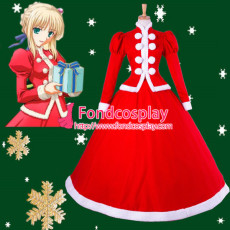 Fate/Stay Night Saber Christmas Dress Cosplay Costume Tailor-Made[G851]