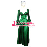 O Dress The Story Of O With Bra Green Satin Dress Cosplay Costume Tailor-Made[G240]