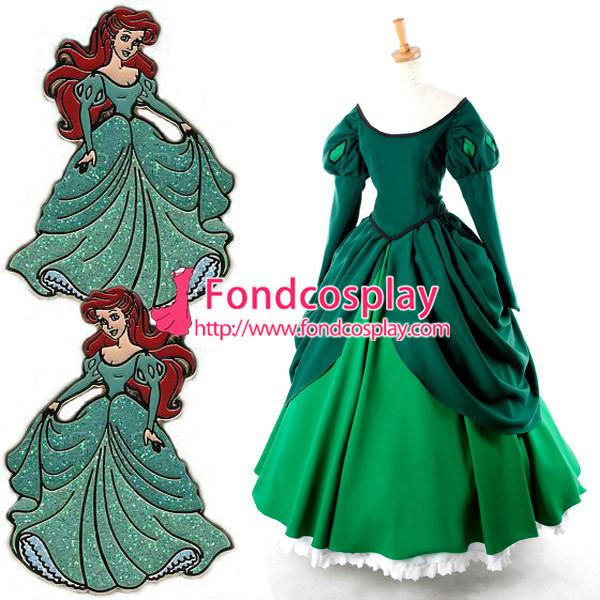 Princess Ariel Dress Movie Cosplay Costume Tailor-Made[G926]