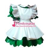 Lockable Pvc Maid Dress Maid Vinyl Uniform Peter-Pan Collar Tailor-Made[G1632]