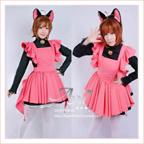 Cardcaptor Sakura Kinomoto Sakura Outfit Dress Cosplay Costume Tailor-Made[G703]