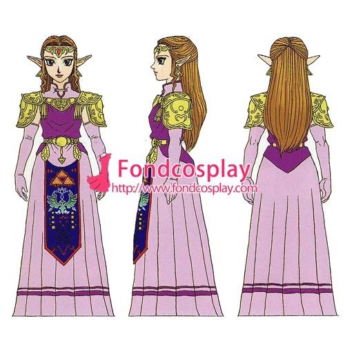 The Legend Of Zelda-Twilight Princess-Adult Zelda Dress Game Costume Tailor-Made[G1318]