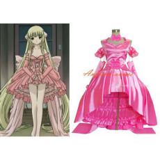 Chobits Freya Chobits Chii Pink Satin Dress Cosplay Costume Tailor-Made[G377]