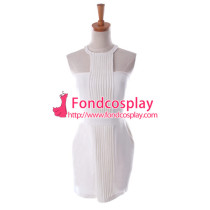 Sass Bide Style White Backless Dress Cosplay Costume Custom-Made[G939]