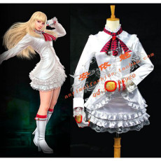Tekken 6 Lili Satin Dress Game Cosplay Costume Tailor-Madee[G688]