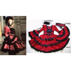 Dir En Grey Shinya Visual J Rock Dress Cosplay Costume Tailor-Made[CK236]