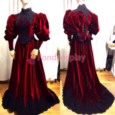 velvet ball Outfit Medieval gown gothic Tailor-made [G3849]