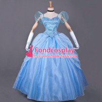Princess Cinderella Dress Movie Cosplay Costume Custom-Made[G822]