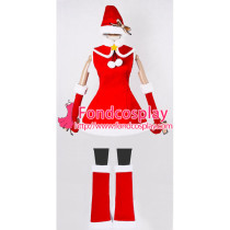 Vocaloid 2 Hatsune Miku Dress Christmas Velvet Cosplay Costume Custom-Made[G852]