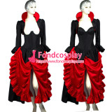 O Dress The Story Of O With Bra Gothic Punk Black Taffeta Dress Cosplay Costume Tailor-Made[G298]