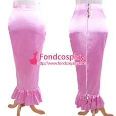 Lockable Satin Fishtail Skirt Tailor-Made[G1609]