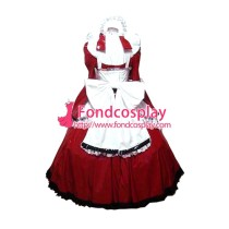 Lockable Pvc Maid Dress Maid Vinyl Uniform Tailor-Made[G1638]