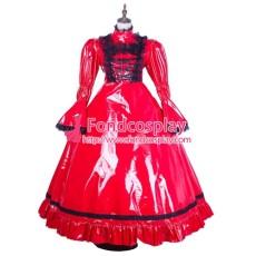 Pvc Lolita Punk Gothic Vinyl Long Dress Tailor-Made[G1769]