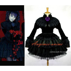 Gothic Lolita Japan J-Rock Black Velvet Dress Cosplay Costume Tailor-Made[CK171]