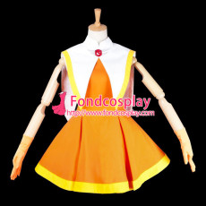 Cardcaptor Sakura Kinomoto Sakura Outfit Dress Cosplay Costume Tailor-Made[G725]